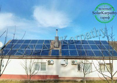 Сетевая СЭС мощностью 10 кВт (40 панелей), система отопления и ГВС, с. Буштино, Тячевский р-н