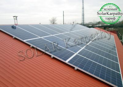 """Сетевая солнечная электростанция, мощность — 10 кВт, """"Зеленый"""" тариф, с. Великая Добронь, Ужгородский р-н"""