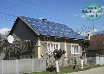 """Солнечная электростанция, мощность — 10 кВт, под """"Зеленый"""" тариф, с. Вышково, Хустский р-н"""