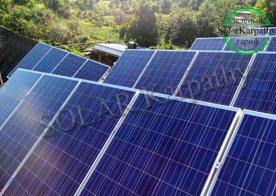 """Сетевая солнечная электростанция мощностью 10 кВт, """"Зеленый"""" тариф, с. Вышково, Хустский р-н"""