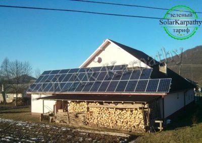 "СЭС 10 кВт (42 панели), ""Зеленый"" тариф, с. Раково, Перечинский р-н"