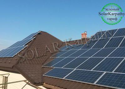 """Сонячна електростанція потужністю 13 кВт (52 панелі) під """"Зелений"""" тариф, м. Мукачево"""