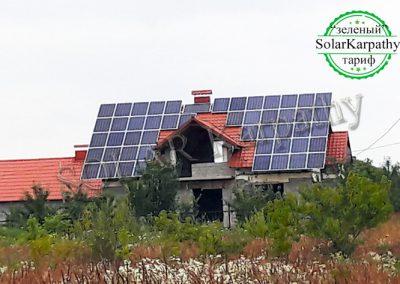 """Сетевая СЭС, 15 кВт (56 панелей), """"Зеленый"""" тариф, г. Виноградов"""