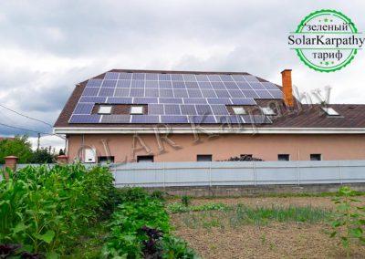"""Сетевая солнечная электростанция мощностью 15 кВт под """"Зеленый"""" тариф, с. Кинчеш, Ужгородский р-н"""