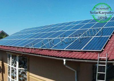 """Сетевая солнечная электростанция мощностью 20 кВт под """"Зеленый"""" тариф, г. Мукачево"""