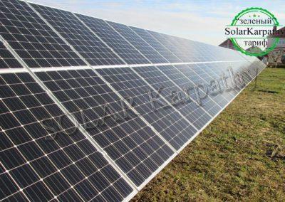 """Наземная сетевая солнечная электростанция мощностью 30 кВт, система отопления и ГВС, """"Зеленый"""" тариф,с. Кинчеш, Ужгородский р-н"""