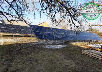"Наземна мережева СЕС потужністю 30 кВт, ""Зелений"" тариф, с. Золотарьово, Хустський р-н"
