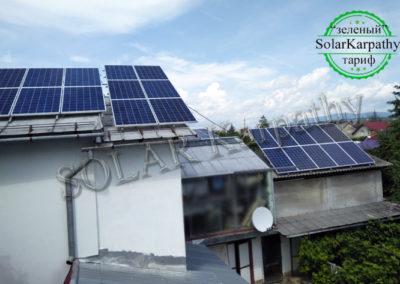 """Сетевая солнечная электростанция мощностью 5 кВт, """"Зеленый"""" тариф, с. Минай, Ужгородский р-н"""