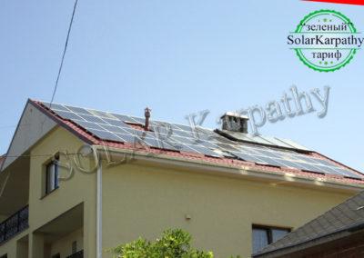 """Сетевая солнечная электростанция мощностью 10 кВт, гелиосистема, """"Зеленый"""" тариф, г. Ужгород"""