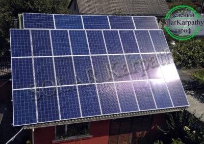 """Сетевая солнечная электростанция мощностью 10 кВт (42 панели), система отопления и ГВС, """"Зеленый"""" тариф, г. Ужгород"""