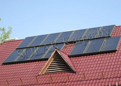 Система горячего водоснабжения и поддержания отопления (14 солнечных коллекторов), пгт. Чинадиево, Мукачевский р-н