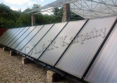 Геліосистема (14 сонячних колектора), с. Верхня Визниця, Мукачівський р-н