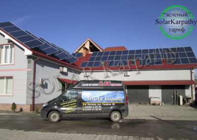"СЕС потужністю 16,5 кВт (78 панелей), ""Зелений"" тариф, м. Ужгород"