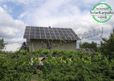 """СЭС, мощность — 17 кВт (50 панелей), """"Зеленый"""" тариф, г. Ужгород"""