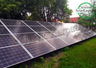 Сетевая солнечная электростанция мощностью 20 кВт, с. Розовка, «Зеленый» тариф, Ужгородский р-н