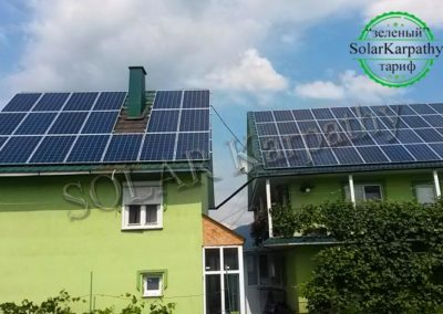 """Сетевая солнечная электростанция мощностью 20 кВт, """"Зеленый"""" тариф, с. Синевир, Межгорский р-н"""