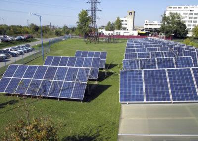 Промышленная сетевая солнечная электростанция мощностью 30 кВт (120 панелей), Jabil Circuit, с. Розовка, Ужгородский р-н