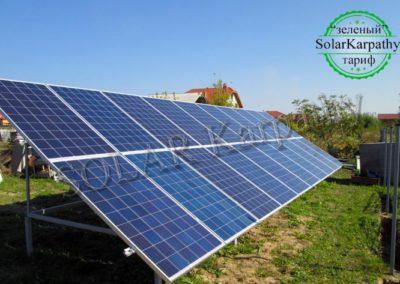 """Наземная солнечная электростанция мощностью 5 кВт (20 панелей), """"Зеленый"""" тариф, с. Кинчеш, Ужгородский р-н"""