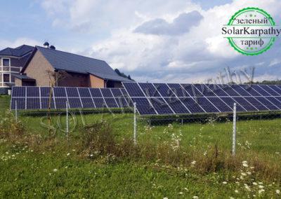 """Сетевая солнечная электростанция мощностью 30 кВт (108 панелей), """"Зеленый"""" тариф, в с. Золотарево, Хустский р-н"""