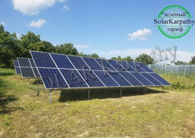 """Наземна мережева сонячна електростанція потужністю 30 кВт, """"Зелений"""" тариф, с. Коноплівці, Мукачівський р-н"""