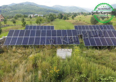 Сетевая солнечная электростанция мощностью 30 кВт (84 панели), в с. Драгово, Хустский р-н