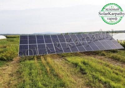 Наземная солнечная электростанция, мощность — 30 кВт, «Зеленый» тариф, с. Малая Добронь, Ужгородский р-н