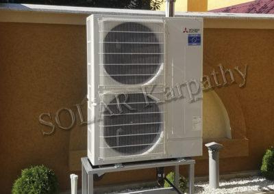 Тепловой насос, мощность — 31 кВт, ГВС, отопление и охлаждение, г. Берегово