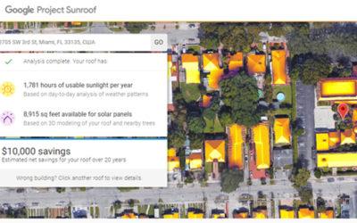 Функция сервиса Google Project Sunroof определяет эффективность работы солнечных панелей