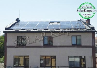 """Сетевая СЭС мощностью 27 кВт (71 панель), """"Зеленый"""" тариф, г. Ужгород"""