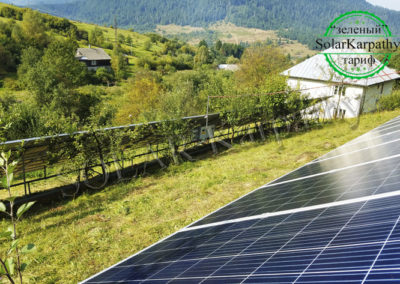 Наземна мережева сонячна електростанція, потужність – 30 кВт, смт. Міжгір'я, Міжгірський р-н