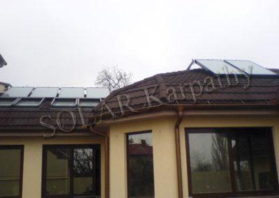 Система поддержания отопления и ГВС для частного дома и бассейна (8 солнечных коллекторов), г. Ужгород