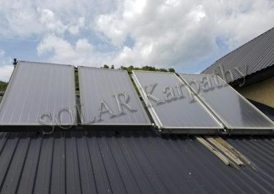 Гелиосистема для поддержки отопления и нагрева воды (4 плоских солнечных коллектора), г. Мукачево