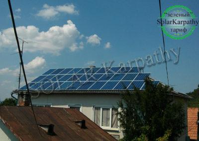 """СЕС потужністю 10 кВт (40 панелей), """"Зелений"""" тариф, м. Виноградів"""