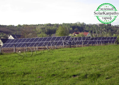 Наземная сетевая СЭС мощностью 30 кВт(114 панелей), «Зеленый» тариф, с. Золотарево, Хустский р-н