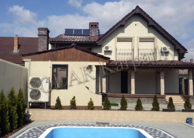 Система отопления и ГВС для частного дома и бассейна (солнечные коллекторы, тепловой насос), г. Ужгород