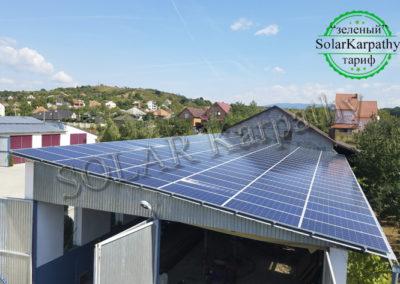 Сетевая солнечная электростанция мощностью 50 кВт (150 панелей) под «Зеленый» тариф, с. Коноплевцы, Мукачевский р-н