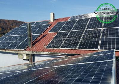 Сетевая СЭС мощностью 30 кВт (84 панели), «Зеленый» тариф, с. Новоселица, Тячевский р-н