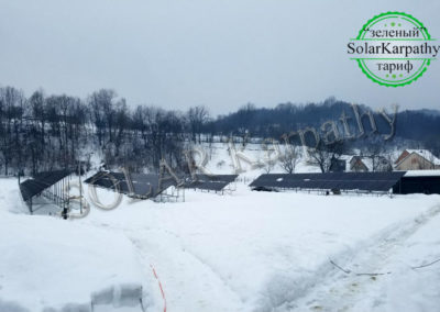 Наземная сетевая СЭС мощностью 30 кВт(104 панели), «Зеленый» тариф, с. Дулово, Тячевский р-н