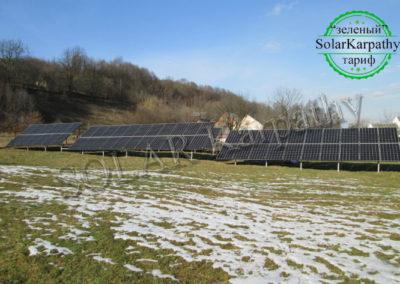 Наземная сетевая СЭС мощностью 30 кВт (112 панелей), «Зеленый» тариф, с. Дулово, Тячевский р-н