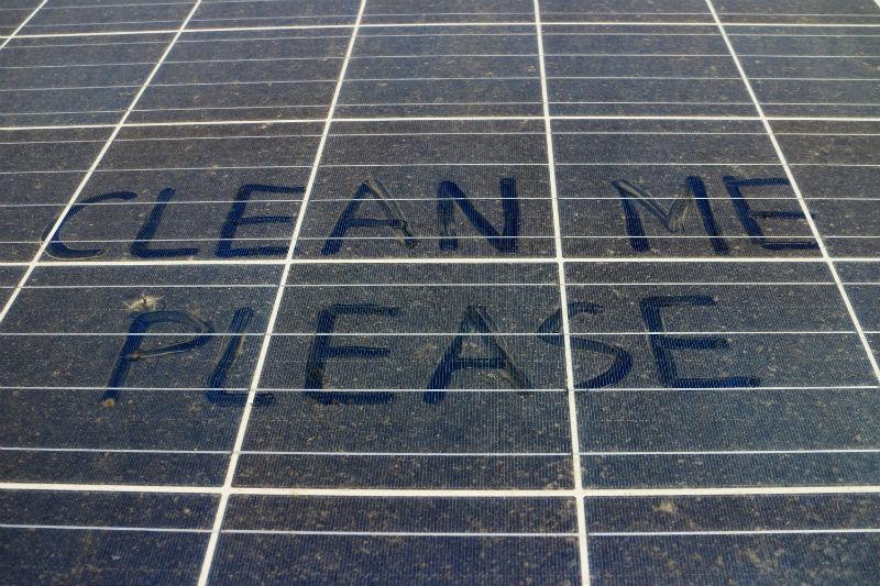 Инновационный метод очистки солнечных панелей от пыли