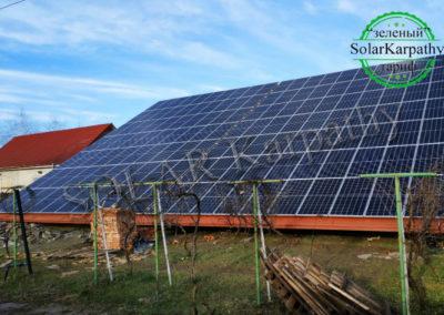 """Сетевая солнечная электростанция мощностью 50 кВт (140 панелей) под """"Зеленый"""" тариф, с. Корытняны, Ужгородский р-н"""