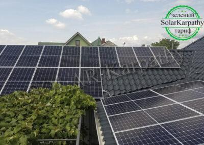 Сетевая СЭС мощностью 15 кВт (40 панелей), с. Баранинцы, Ужгородский р-н