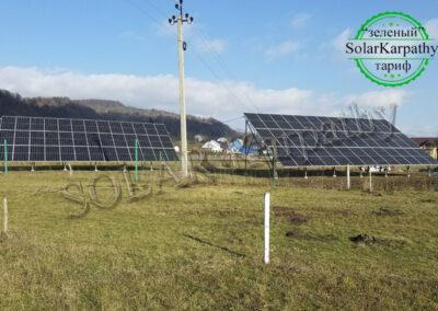 Сетевая СЭС мощностью 30 кВт (78 панелей), «Зеленый» тариф, с. Нересница, Тячевский р-н