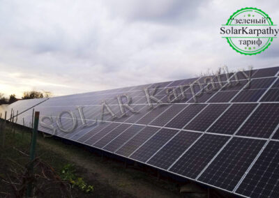 Наземная сетевая солнечная электростанция, мощность — 50 кВт, г. Берегово