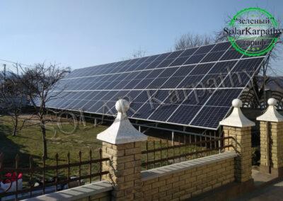 """Наземная солнечная электростанция мощностью 25 кВт (60 панелей), """"Зеленый"""" тариф, г. Свалява"""