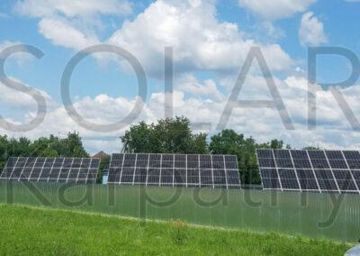 Наземная сетевая СЭС мощностью 30 кВт(86 панелей), «Зеленый» тариф, с. Сторожница, Ужгородский р-н
