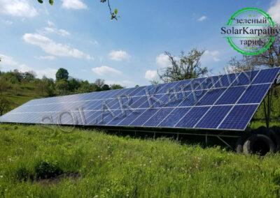 Наземная сетевая СЭС: 30 кВт*ч, 96 панелей, «Зеленый» тариф, с. Верхняя Вызница, Мукачевский р-он