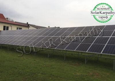 Наземная сетевая солнечная электростанция мощностью 30 кВт, «Зеленый» тариф, с. Кушница,  Иршавский р-он
