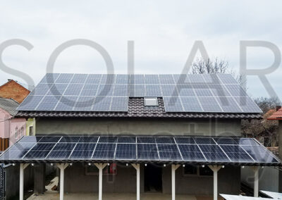 Сетевая солнечная электростанция (20 кВт, 55 панелей) под «Зеленый» тариф, г. Берегово
