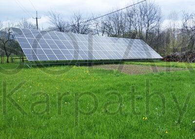Сетевая солнечная электростанция на 30 кВт под «Зеленый» тариф, с. Ольховцы, Тячевский р-н